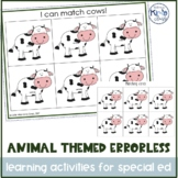 Animal Themed Errorless Learning Activities for Special Education