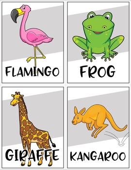 Animal Themed Flash Cards for Creative Movement