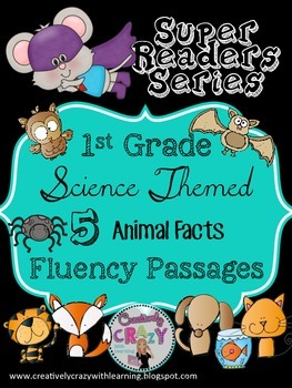 Animal Themed Fluency Passages With Comprehension: Super Readers Series