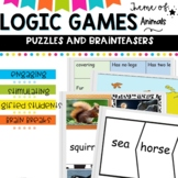 Logic games, puzzles and brain teasers.  Animal theme