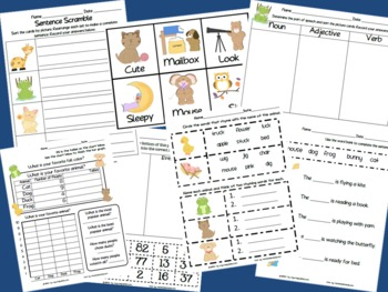 Animal Themed Math and Literacy Bundle