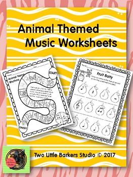 Animal Themed Music Worksheets