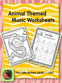 Animal Themed Music Worksheets