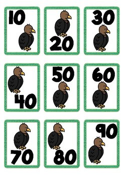 Animal Themed Number Cards 1-100