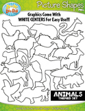 Animal Picture Shapes Clipart {Zip-A-Dee-Doo-Dah Designs}