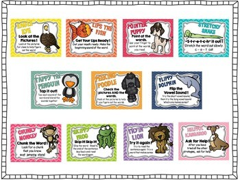 Reading Strategies Posters and More - Colorful Theme