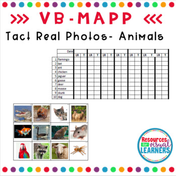 Animal Themed Real Picture Cards Aligned to VB-MAPP