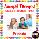 Animal Themed Spatial Direction Cards Freebie