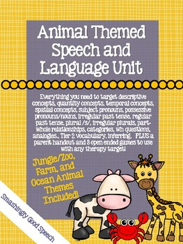 Animal Themed Speech and Language Unit