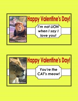 Animal Themed Valentines Cards