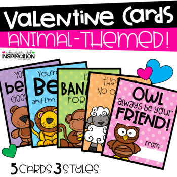 Animal-Themed Valentines by Education and Inspiration