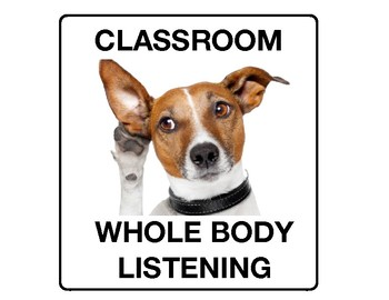 Animal Themed WHOLE BODY LISTENING Posters