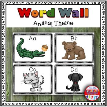 Animal Themed Word Wall