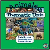 Animal Topic Thematic Unit Activity Bundle