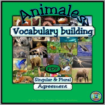 Animal Topic Vocabulary Building Worksheets