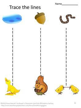 Fine Motor Skill Activities Animal Tracing Early Childhood Special Education