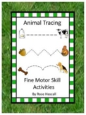Animal Theme, Fine Motor Skill Activities, Tracing Worksheets, Special Education