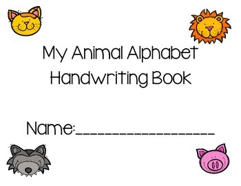 Animal Tracing Handwriting Book