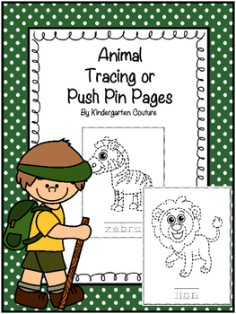 Animal Tracing Or Push Pin Pages