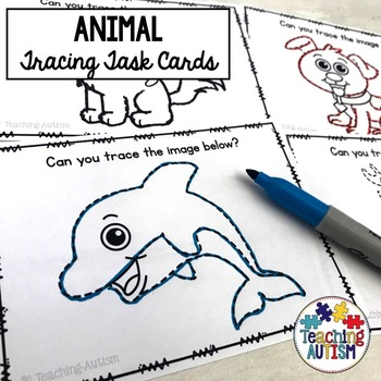 Animal Tracing Task Cards