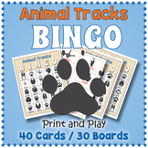 Animal Tracks BINGO Game