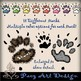 Animal Tracks Clipart {Paez Art Design}