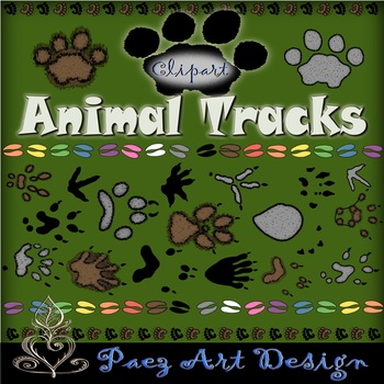 Animal Tracks Clipart {Paez Art Design}