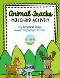 Animal Tracks Matching Activity