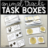 Animal Tracks Task Boxes ( 3 versions ) | Task Boxes for Special Education