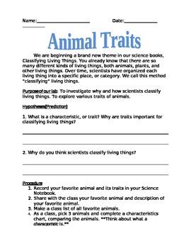 Animal Trait Investigation