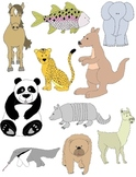 Animal Treasury Clip Art: 50 PNGs