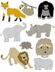 Animal Treasury Clip Art: 50 PNGs