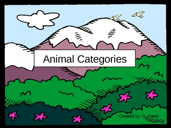 Animal Types Power Point Presentation