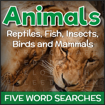 Animal Types - Word Searches