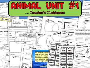 Animal Unit #1 from Teacher's Clubhouse