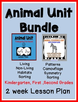 Animal Coverings/Living Non-Living BUNDLE for Kindergarten, First & Second