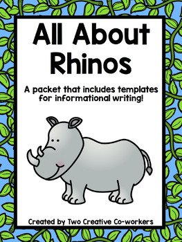 Informational Writing Bundle: Zoo Animals { Includes Blank Template }