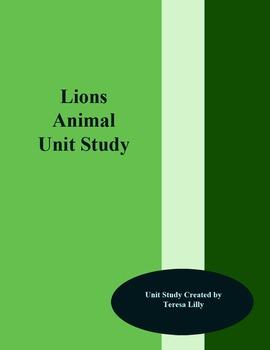 Lions Animal Unit Study
