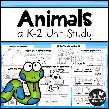 Animal Unit Study for K-2 Learners