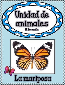 Animal Unit - The Butterfly- in Spanish
