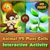 Animal VS Plant Cells - Interactive Worksheet Activity