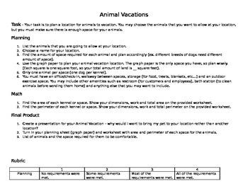 Animal Vacations PBL