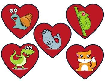 Animal Valentine's Day Heart Reward (VIPKID)