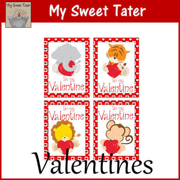 Animal Valentines Printable