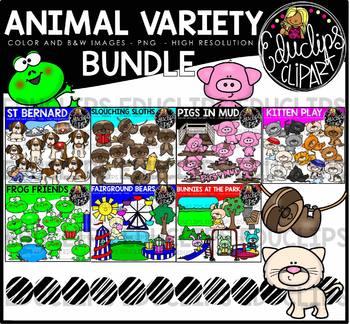 Animal Variety Clip Art Bundle {Educlips Clipart}