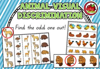 Animal Visual Discrimination Cards