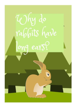 Animal Vocab + Exercises (Story: Why do rabbits have long ears?)