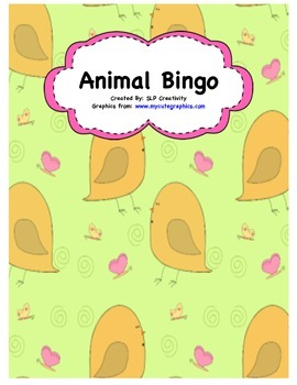 Animal Vocabulary Bingo