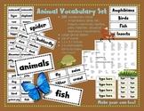 Animal Vocabulary Set {220 terms}
