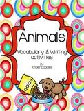 Animal Vocabulary & Writing Activities